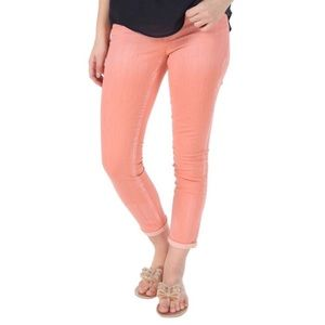 Jessica Simpson Blush Rolled Crop Skinny 7S